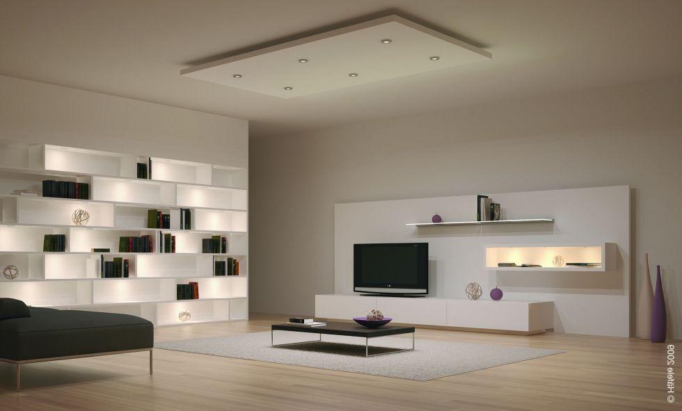Dekorasi ruang tamu minimalis moden mewah dengan lampu hiasan menarik