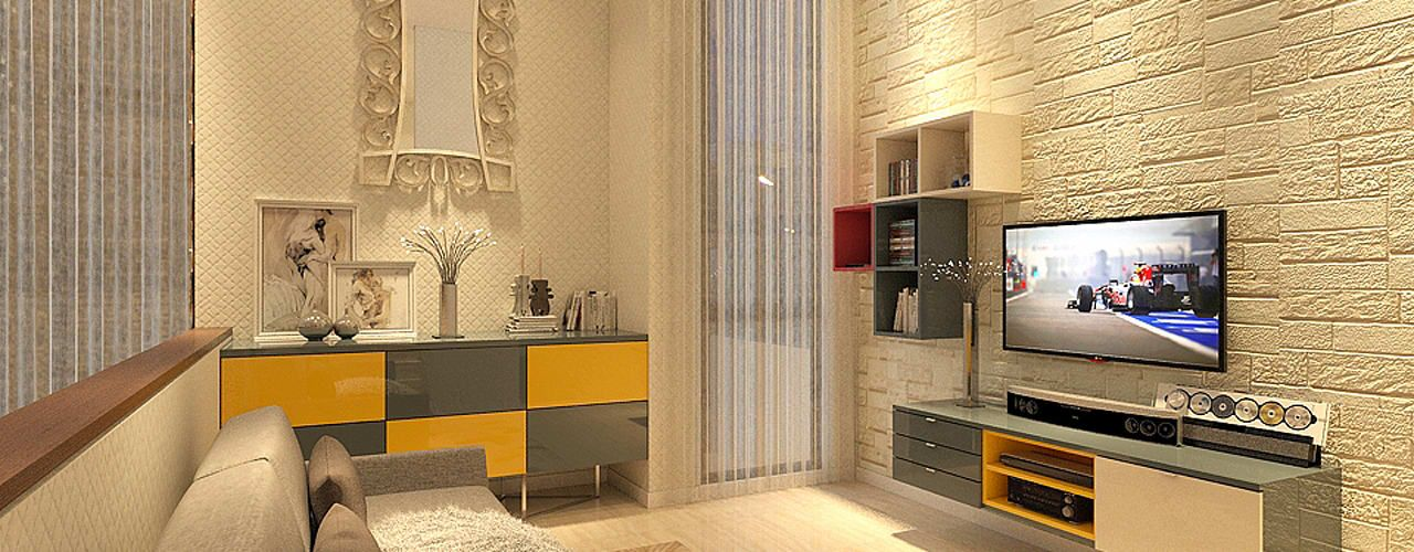 PRIVATE RESIDENTIAL NAVAPARK BSD CITY TANGERANG Ruang Keluarga by PT Dekorasi