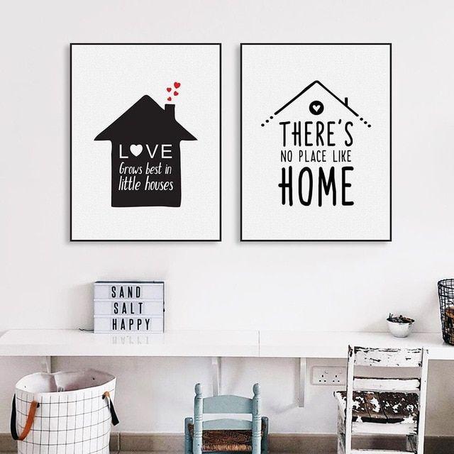 Nordic Minimalis Tipografi Cinta Harga Art Print Poster Pembibitan Dinding Gambar Kanvas Lukisan Tanpa Bingkai Ruang