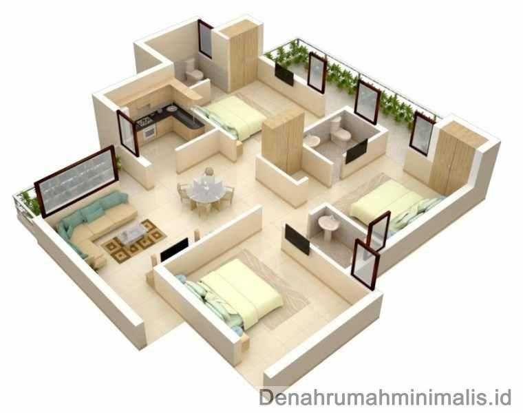 Dekorasi Rumah Minimalis Hebat Dekorasi Rumah 3 Kamar 18 Baru Ide Kreatif Dari Denah Rumah