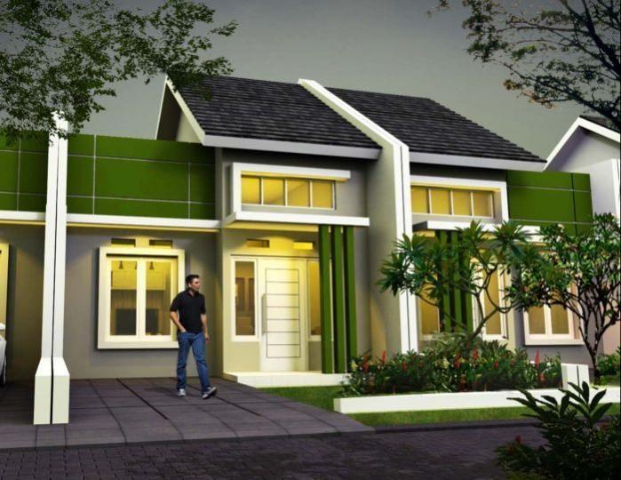 Dekorasi Rumah Minimalis Meletup Kombinasi Warna Hijau Minimalis Fasad Desain