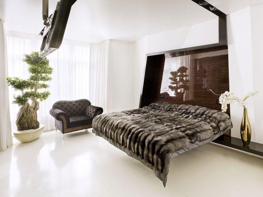 VIEW IN GALLERY Hiasan bilik tidur a moden kontemporari dan mewah dengan katil yang unik