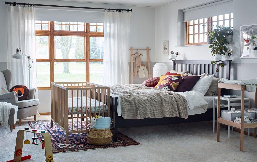Hiasan Dalaman Bilik Tidur Ikea Hebat Ringkas Dan Semula Jadi Dengan Bayi Di Sisi anda