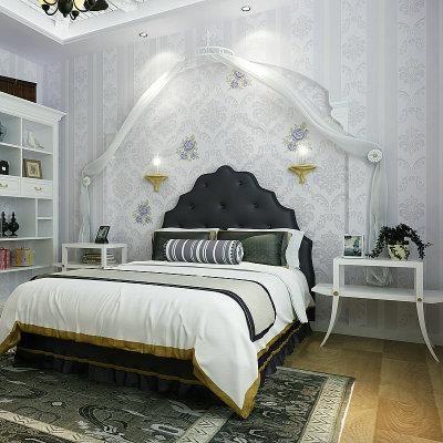 Gaya Eropah Wallpaper adalah sejenis bunga besar Romantik Bilik Tidur ruang tamu latar belakang 3D