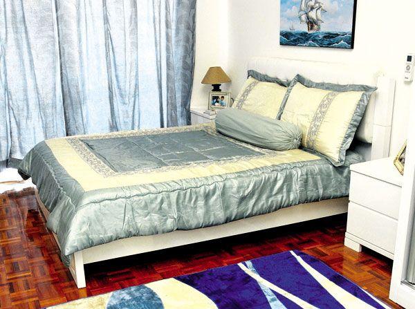 Hiasan Dalaman Bilik Tidur Romantik Hebat Rumah Pencinta Biru Putih
