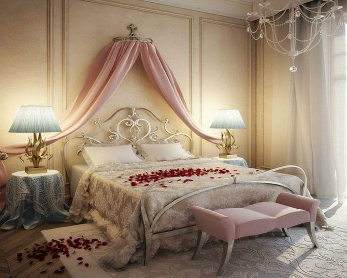 mawar Deco idea idea bilik tidur dalaman romantis
