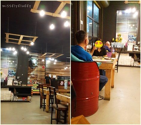 Hiasan Dalaman Kedai Makan Meletup Cafe Hopping Dinner with Bff at Pallet Cafe