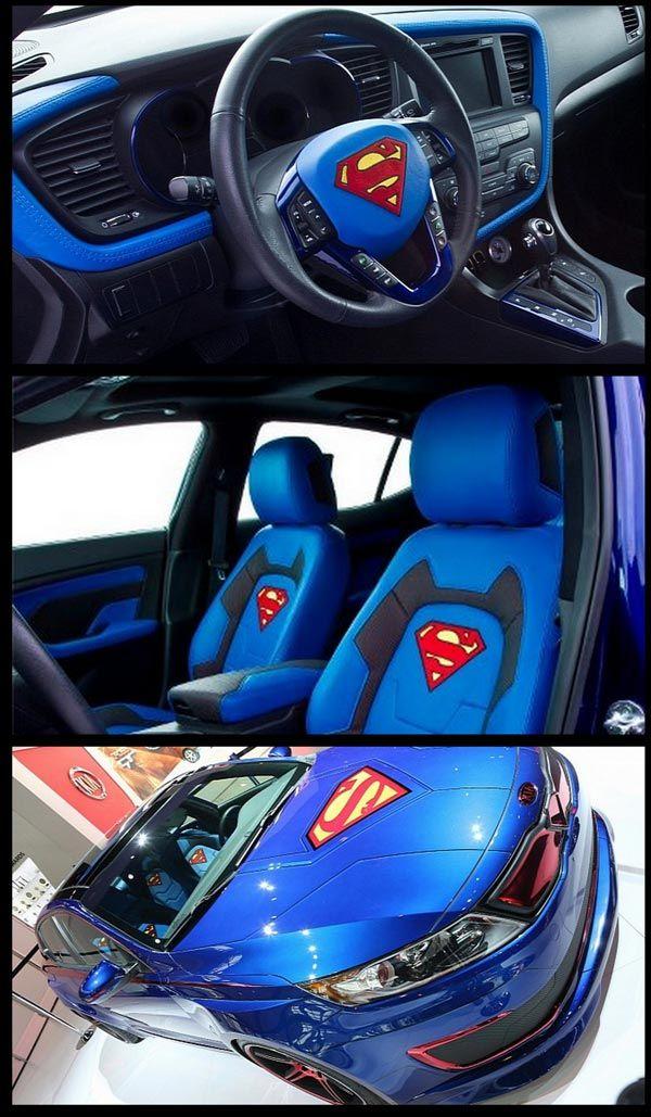 Hiasan Dalaman Kereta Berguna Blog Serius Serius Cool Kereta Superman Kia Optima Hibrid 14 Gambar