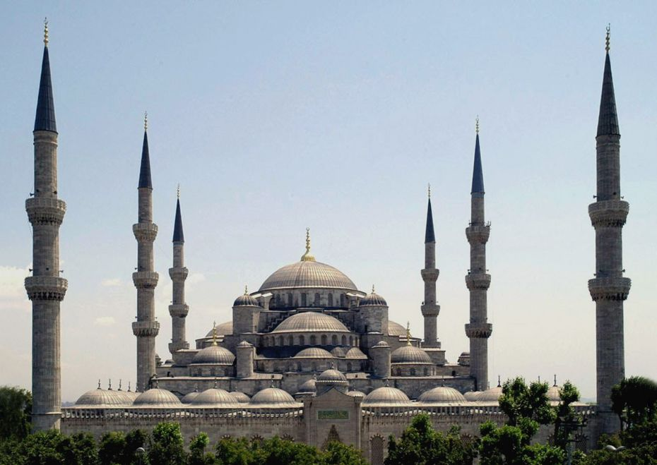 Sultan Ahmed Mosque Istanbul Turkey retouched
