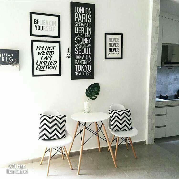 VIEW IN GALLERY Hiasan dalaman ringkas dan minimalis bertema putih 6