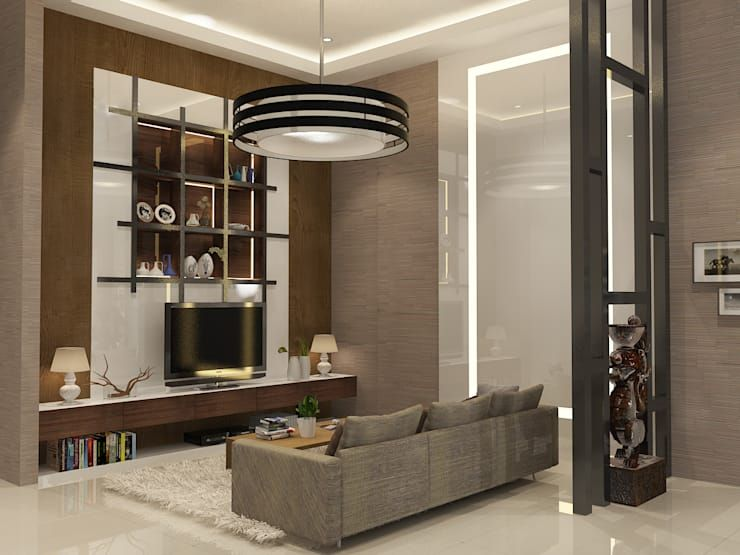 Living Room Ruang Keluarga by AIRE INTERIOR