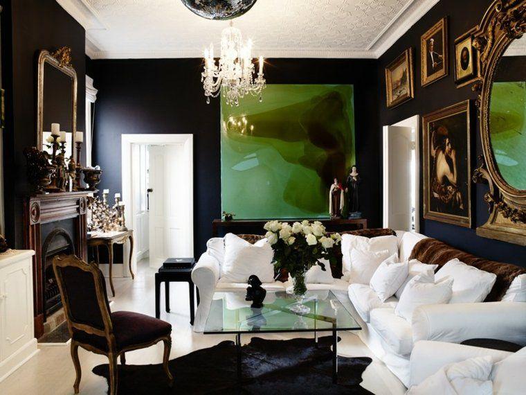 Lihat dalam galeri lukisan ruang tamu mewah hitam putih