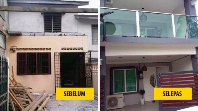 Hiasan Dalaman Ruang Tamu Rumah Teres Dua Tingkat Berguna Renovasi Rumah Teres Kos Rendah Kepada Dekorasi Mewah Dan Moden