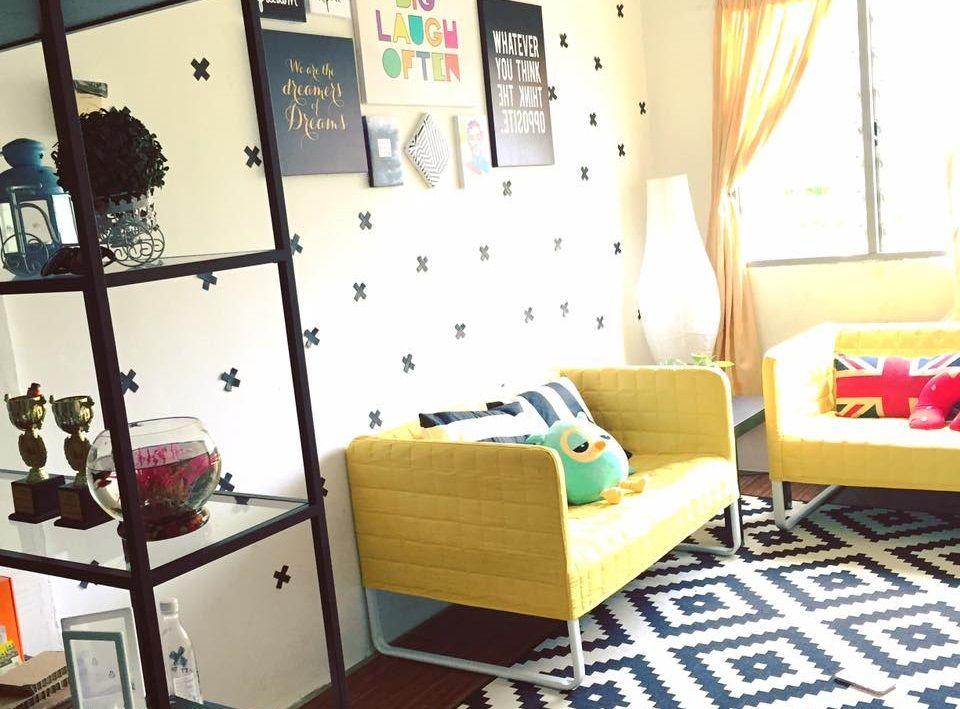Hiasan Dalaman Ruang Tamu Simple Hebat Dekorasi Menarik Gaya Ikea Di Rumah Flat Dengan Bajet Minima