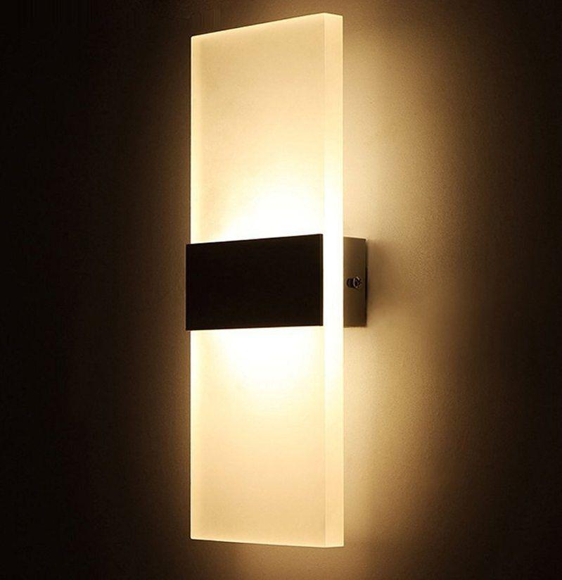 Hiasan Dalaman Ruang Tamu Terhebat ⑥3 W 5 W 6 W Dipimpin Akrilik Lampu Dinding Ac85 265v Wall Mount