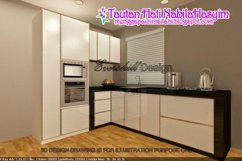 Hiasan Dalaman Rumah Flat Kecil Bermanfaat Tautan Hati Nabilahasyim Dapur Kos Keseluruhan Kabinet Dapur