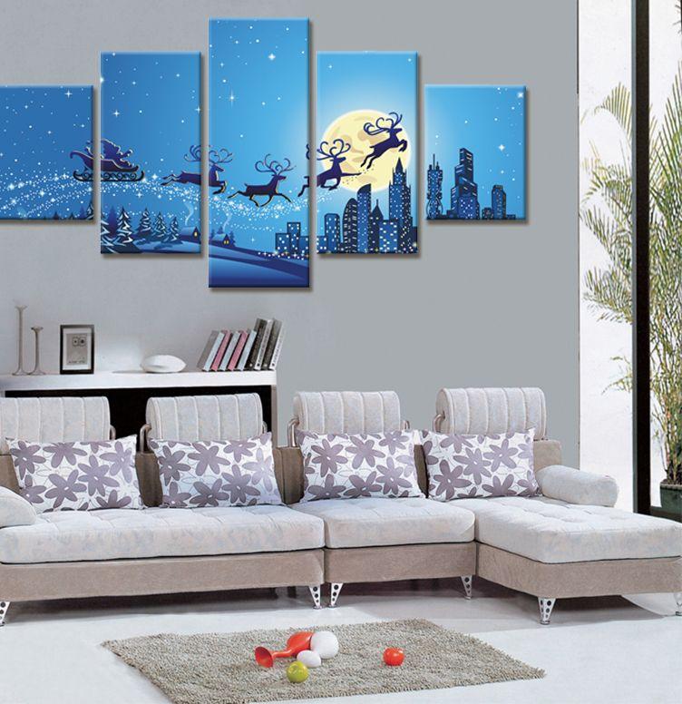 Hiasan Dalaman Rumah Flat Power Ì¿Ì¿Ì¿ •Ìª Tidak Ada Bingkai 5 Piece Dinding Kanvas Lukisan Dekorasi