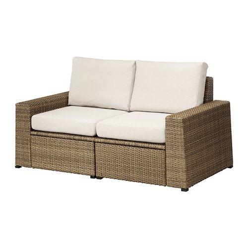 SOLLER–N Sofa dua tempat duduk luar