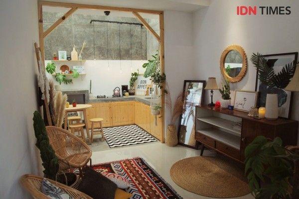 Hiasan Dalaman Rumah Kecil Hebat Dekorasi Rumah Tipe 36 Berkonsep Urban Junggle Buat Pasangan Muda