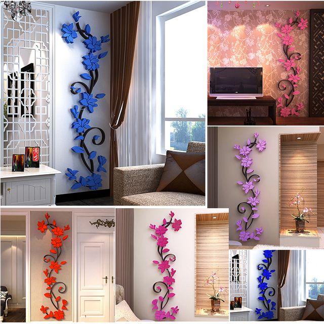 Hiasan Dalaman Rumah Mewah Berguna 3d Flora Dirancang Kerajinan Dapur Ruang Tamu Lorong Stiker Dinding