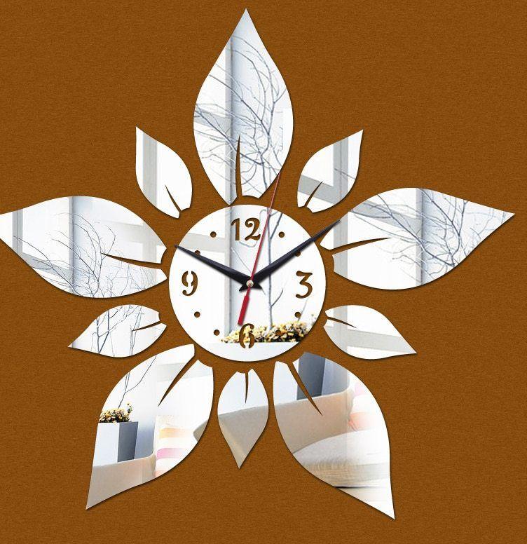 Promosi 2017 Baru Limited Akrilik Dinding Clocks 3D Dekorasi Rumah Desain Moderen Cermin Mewah Jam Stiker Living Room