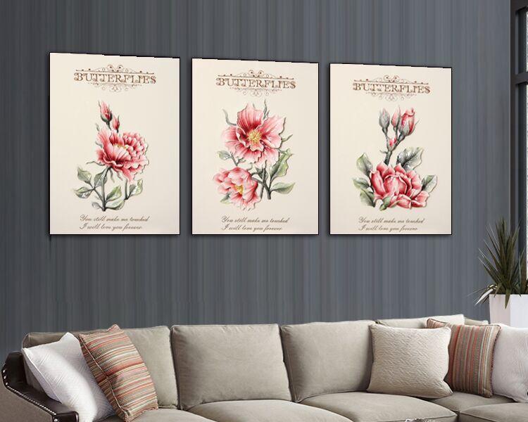 asli Desain Dinding Art Craft Dekorasi Rumah Dekorasi Bunga Merah Dekorasi Dinding 3D