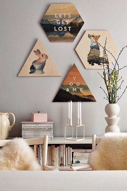 Dekorasi ala Tumblr emang gak ada matinya Kamu juga bisa kok membuatnya sendiri berbekal papan kayu dan tinta berwarna