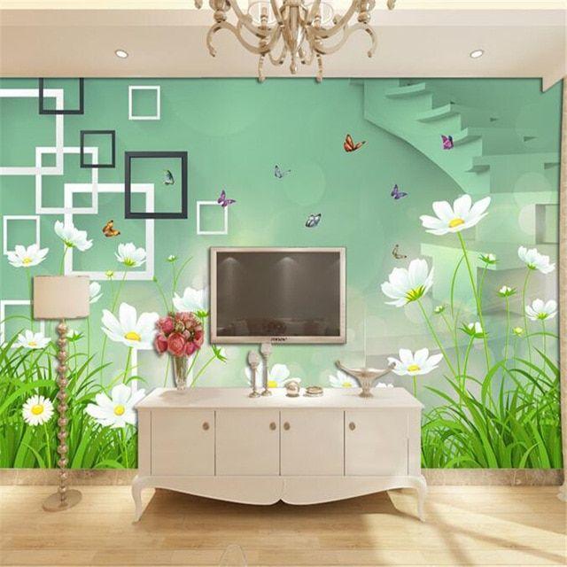 Hiasan Dalaman Rumah Sederhana Berguna Beibehang Segar Dan Sederhana Bunga 3d Bunga Yang Indah Wallpaper