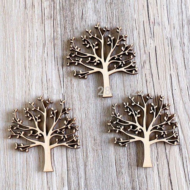 Hiasan Dalaman Rumah Sempit Terbaik Pohon Dengan Daun Kayu Hiasan Untuk Kerajinan Kayu ornamen Siluet