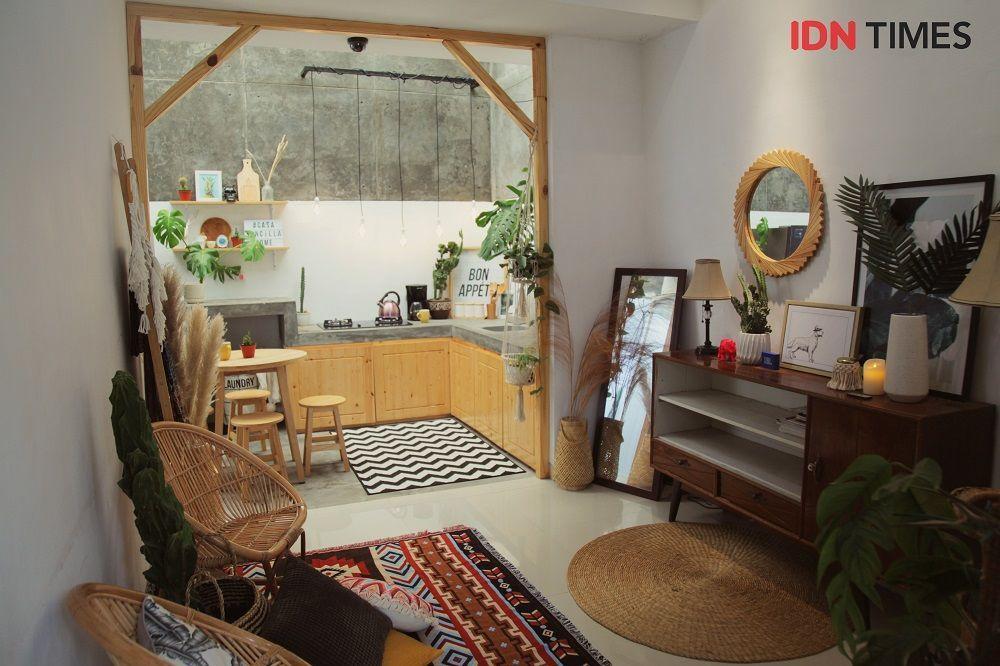 Hiasan Dalaman Rumah Simple Baik Dekorasi Rumah Tipe 36 Berkonsep Urban Junggle Buat Pasangan Muda