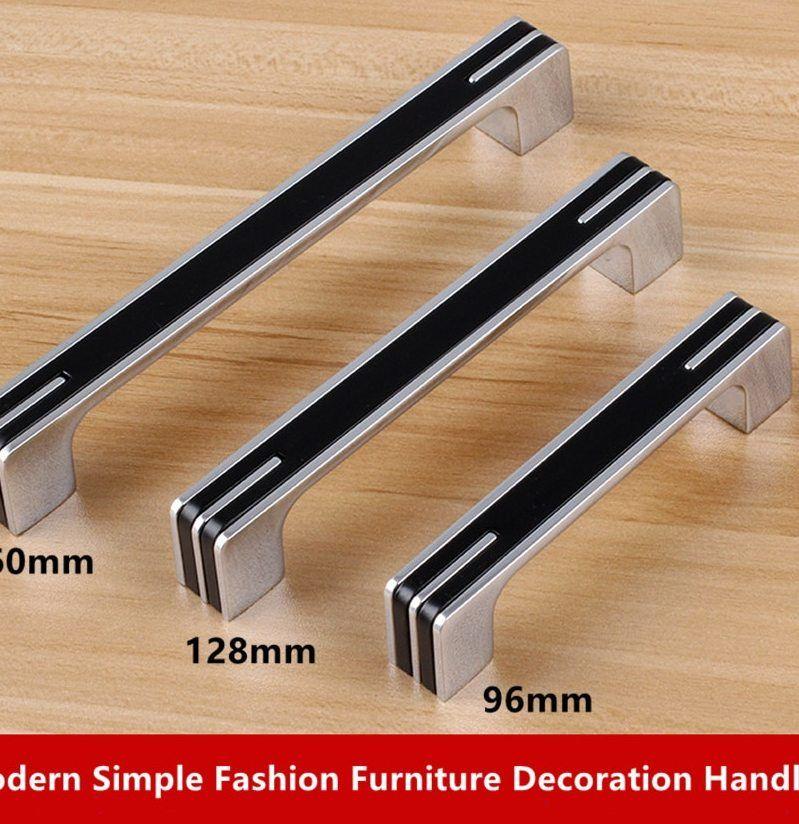 Hiasan Dalaman Rumah Simple Terhebat ᐂ96 128 160mm Modern Simple Mode Dekorasi Furnitur Menangani Silver