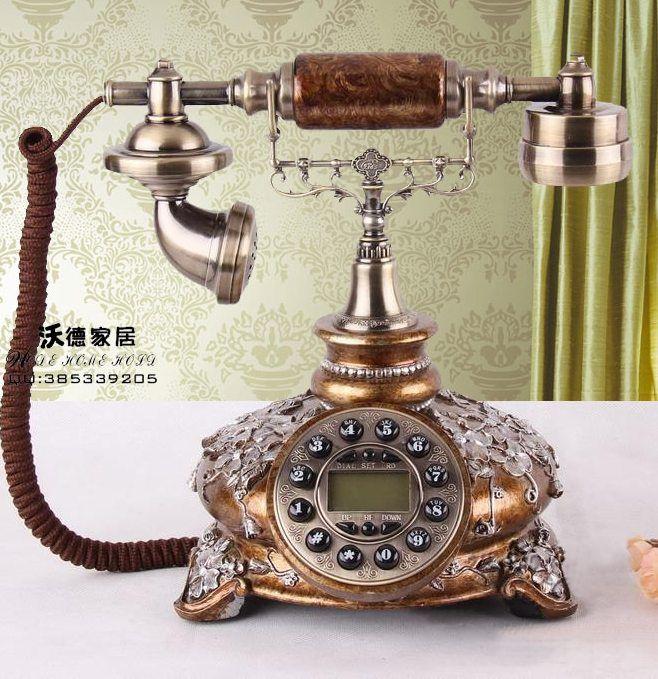 Baru a Eropa retro antik telepon darat proses yang Korea taman pernikahan Dekorasi art pedesaan telepon Redial