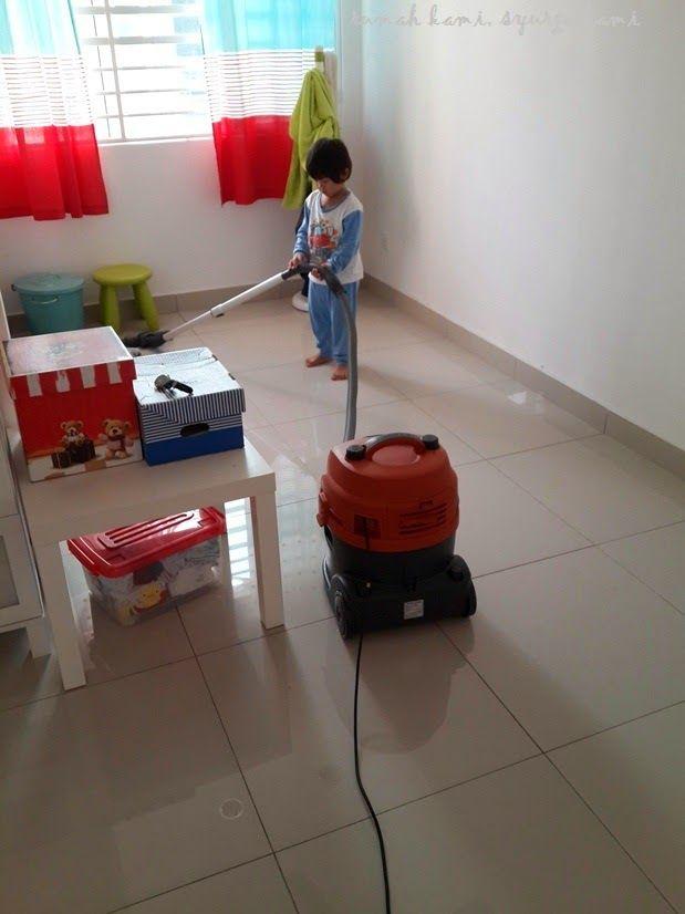 """Bersih tak bersih belakang kira Yang penting kena jadikan rutin Ni kalau Opahnya nampak cucunya buat kerja harus Opahnya meratap """"Kesian cucu aku """""""