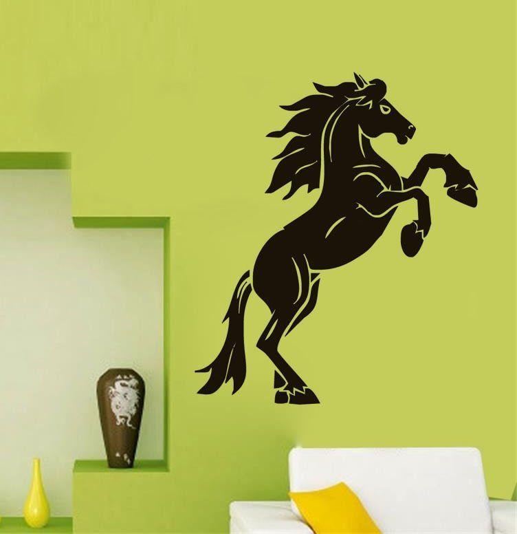 Kuda Vinyl Wall Stiker Removable Decals Mode Dekorasi Rumah Untuk Ruang Tamu Lucu Dinding Decal