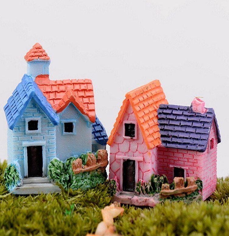 Hiasan Dalaman Untuk Rumah Kecil Bermanfaat √dollhouse Miniatur Peri Taman Mini Kecil Yang Lucu Rumah Resin