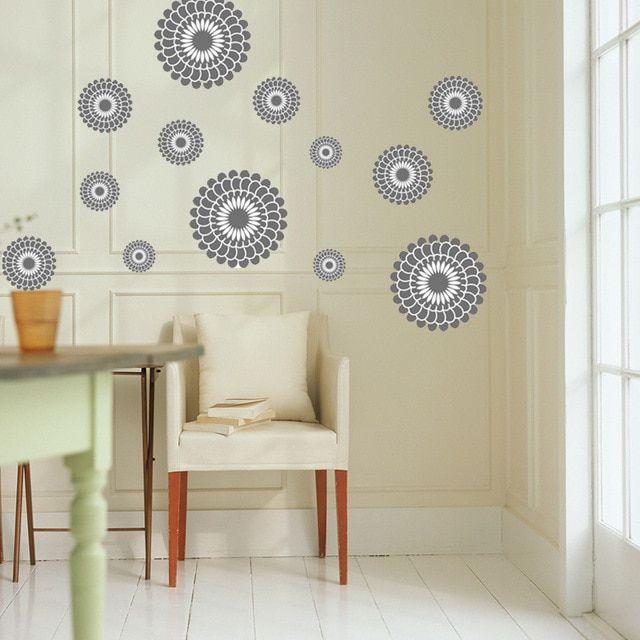 Hiasan Dalaman Wallpaper Hebat Colorful Lingkaran Stiker Dinding Dekorasi Ruang Tamu Kreatif