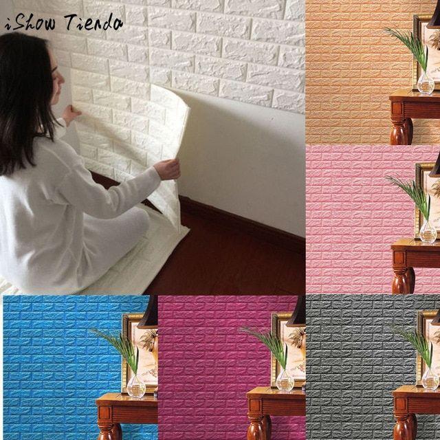 Hiasan Dalaman Wallpaper Menarik Pe Busa 3d Wallpaper Diy Stiker Dinding Dekorasi Dinding Timbul Bata
