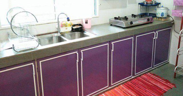 Hiasan Dapur Rumah Kampung Penting Projek Kabinet Dapur Diy Dengan Kos Sekitar Rm250
