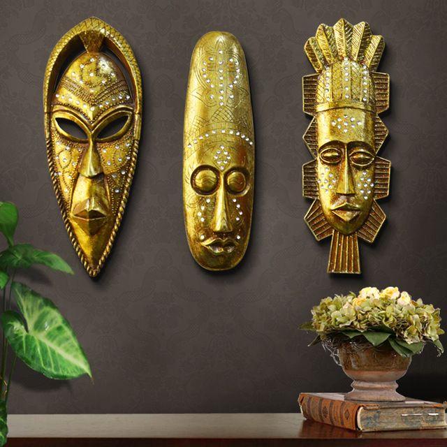 Hiasan Dinding Rumah Hebat Retro Afrika Patung Hiasan Dinding Dekorasi Karya Seni Patung Hiasan