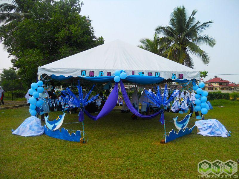 Hiasan Khemah Rumah Sukan Biru Power Hari Sukan 2012 Pusat Sumber Smkadha