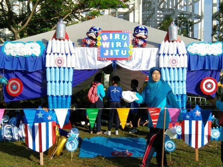 Hiasan Khemah Rumah Sukan Biru Terbaik Sekolah Kebangsaan Taman Putra Perdana Kejohanan Sukan Tahunan Kali