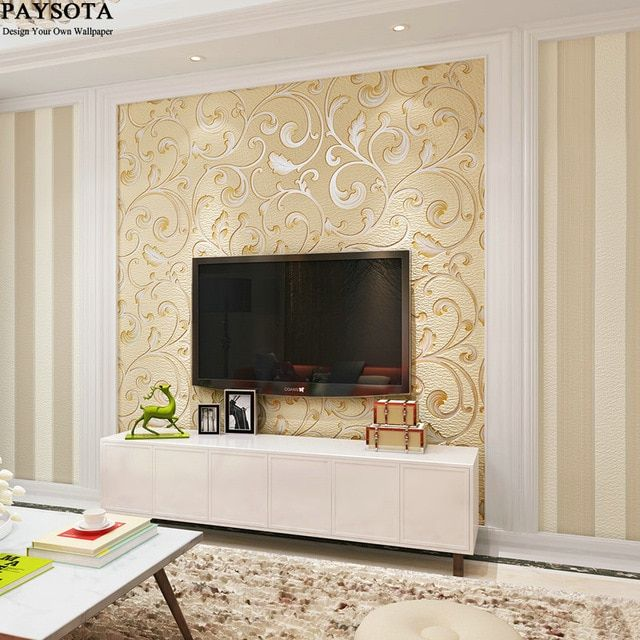 Hiasan Ruang Tamu Rumah Flat Terbaik Kualitas Tinggi 3d Gaya Cina Ab Versi Berkelompok Kertas Dinding