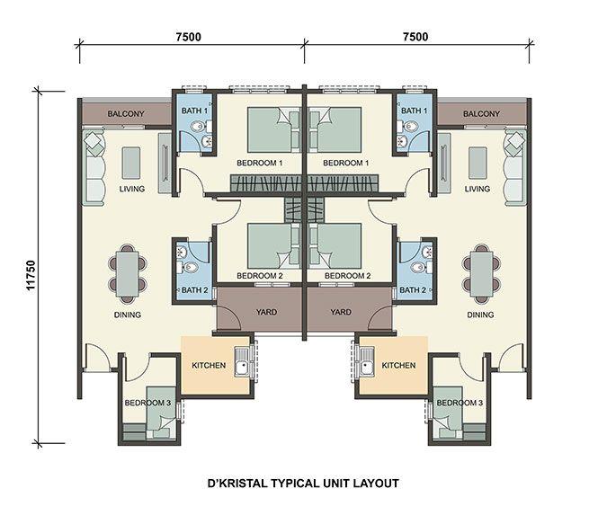 D Kristal Floor Plan