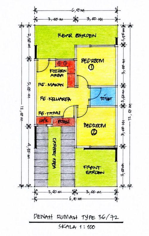 Layout Denah Desain Rumah Minimalis Type 36 Gambar 614 ♥ Home Design Ideas ♥