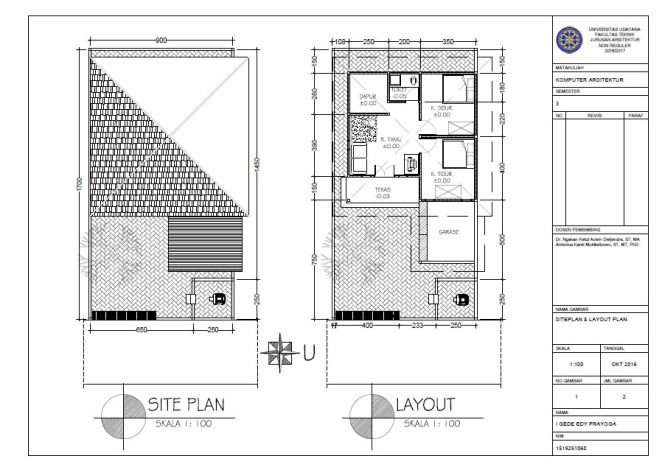 Sketsa Site Plan & Layout