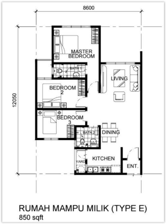 Layout Pelan Rumah Menarik Rumawip Vista Oug Residensi Platinum Oug