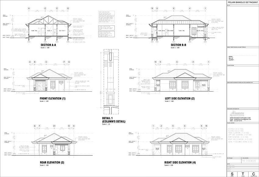 Pakej 2 Lukisan Pembinaan Pdf Rekabentuk Mewarnai Rumah Mewarnai Gambar