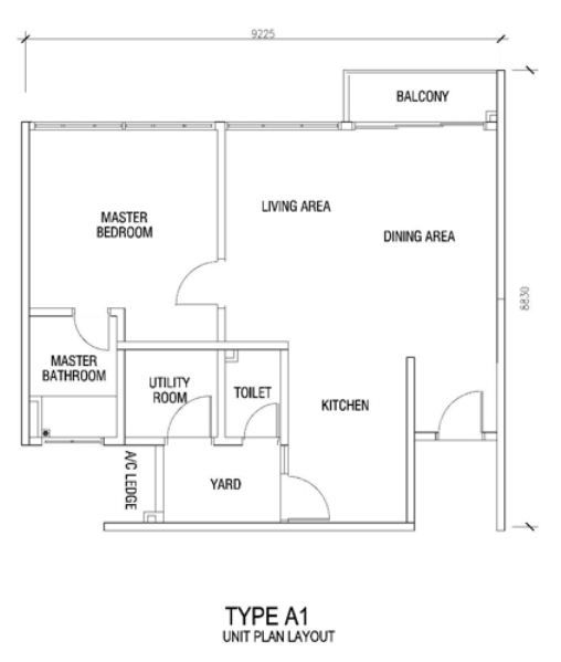 Practical and Nice layout good privacy nice view from master bathroom