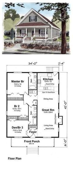 Cottage Style COOL House Plan ID chp