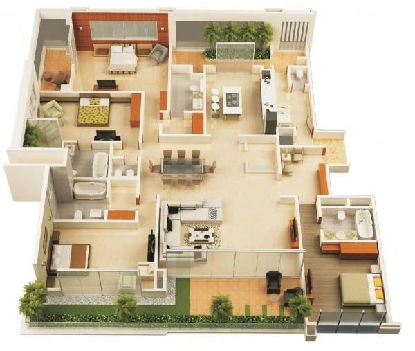 Pelan Bumbung Rumah Banglo Terbaik 30 Pelan Rumah Banglo Setingkat 4 Bilik Moden Minimalis